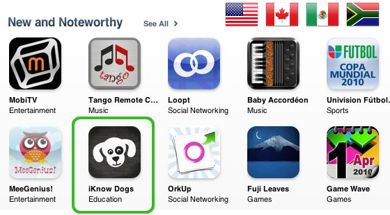 iKnow Dogs is New and Noteworthy!