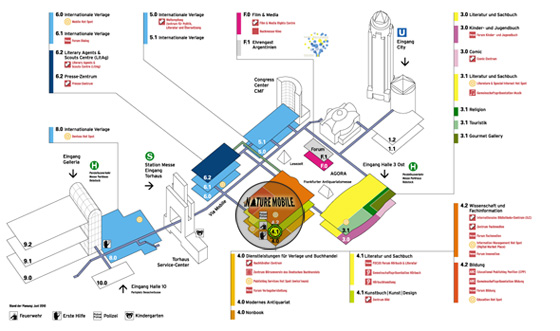 Frankfurter Buchmesse Karte